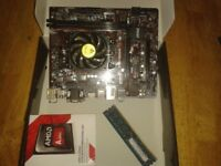 A8 7600 CPU + Motherboard A68HM free 4GB ram MINT! CON!