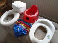 Potty training bundle - more items added - including sealed pack of 20 pull ups