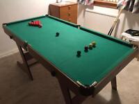 Pool table full size (foldable)