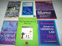 SOCIAL WORK & LAW BOOKS