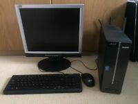 Acer aspire XC-603, with monitor with speakers, keyboard, mouse and cables.