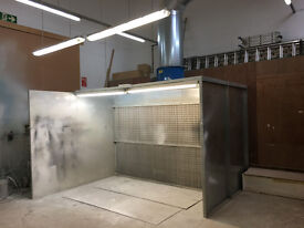 """3.3m (10' 9"""") 1 x 2.2kW Premier Dry Filter Spray Booth + Ducting"""