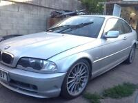 2000 BMW 3 SERIES E46 COUPE 318i PETROL. BREAKING FOR PARTS SPARES ONLY. Silver.