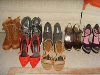 LADIES SHOES AND BOOTS,SIZE 4 - 50P EACH