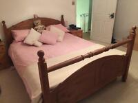 King size bed frame and mattress in good condition