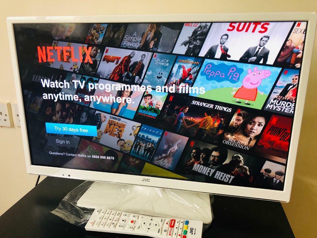 Tv smart JVC 24 inch, white colour, new tv new model | in Middleton,  Manchester | Gumtree