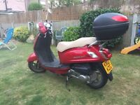 SYM FIDDLE 2 125CC 12 REG 2012 RED ONLY 3800 MILES
