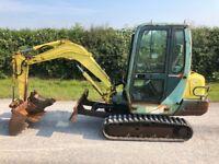 Yanmar B27 mini digger excavator 3300 hours c/w 3 buckets no vat
