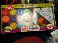 New sealed play doh and utensils set
