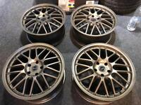 "4 18"" alloy wheels alloys rims tyres to fit Audi seat Skoda vw Volkswagen Golf caddy a3"