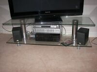 Glass TV stand / Unit in good condition