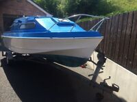 Shetland Suntrip Boat +trailer +50HP engine +new tilt and trim
