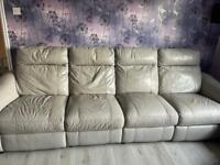 FREE Leather large 4 seater sofa & arm chair
