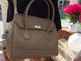 Ladies Modalu Mole coloured Large Leather Handbag (BNWT)