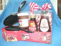 Clarks Nutella Waffle Making Gift Set - Waffle Iron and all main ingredients - Unwanted Gift