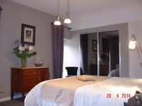 River view self catering rental Brittany near Pontivy France