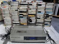 116 BETAMAX TAPES ALL RECORDED WITH RETRO & VINTAGE TV & FILMS PLUS SANYO BETAMAX PLAYER & REMOTE