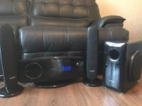 Samsung home cinema system with subwoofer and speakers