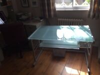 Glass top office desk