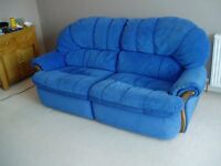 3 seater reclining sofa/settee and matching reclining armchair