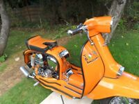 Lambretta GP 1970 Italian scooter fitted with 200 engine and TSI conversion kit