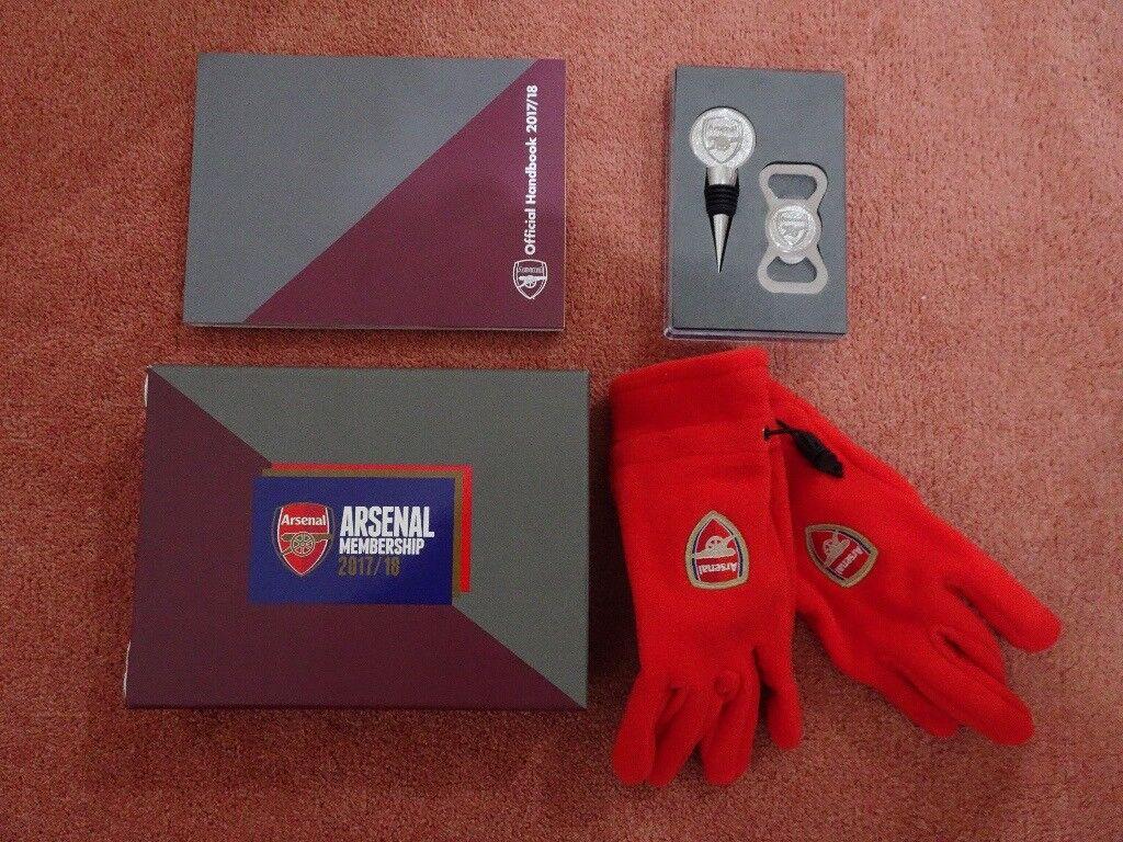 2017-2018 Arsenal Football Club Membership Pack