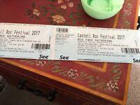 2x tickets castell roc Chepstow castle 25/8/17
