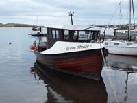 26ft wooden fishing boat .Ford 4cyl, marine gear box. Sold as a project. New boat forces sale .