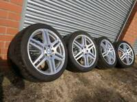 """18"""" Mercedes E class AMG alloy wheels and tyres 5x112 Genuine / C class"""
