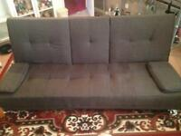 Dark grey sofa bed