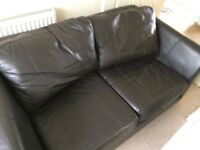 2 SEATER SOFA Dark Brown - FREE collect from Winton BH9 2EE