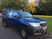 2012/62 Toyota Hilux HL2 144 2.5 D-4D 4WD Double Cab Pickup 4 doors NO VAT