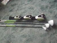 dunlop NZ9 golf clubs woods set excellent condition