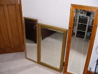 3 X MIRRORS - JOB LOT OR WILL SELL INDIVIDUALLY !!! (open to offers)