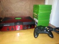 XBOX CONSOLE WITH 14 GAMES