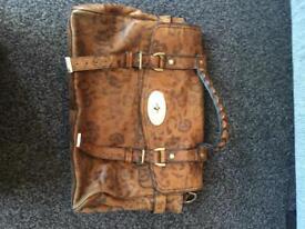 Stunning designer Alexa handbag in leopard print (mulberry style)
