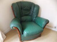 * FREE* Dark green leather armchair