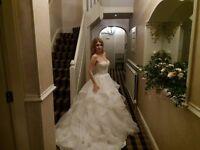 FABULOUS wedding dress, underskirt, matching tiara and braslet