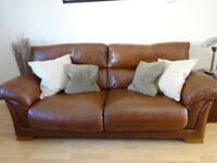 Leather Sofa - 2 & 3 Seater (scatter cushions not included)