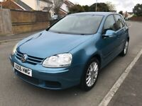 VW GOLF 1.4 5 Door Hatchback 2006 Manual Metallic Blue owned for 5 Years FSH 2 Keys