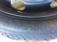Spacesaver wheel and tyre