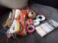 Joblot coloursd string/twine/jute