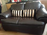 Brown 2 seater sofa offers