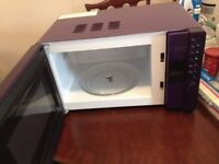 PURPLE MIRROR DOOR SWAN MICROWAVE. 800 WATT