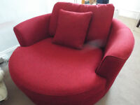 Red Heal's Sofas | Soho at Heal's Waltzer Swivel Loveseat - Swivel Armchairs - Armchairs