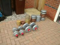 Over 100kg of weights