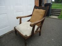 ANTIQUE - VICTORIAN ARM CHAIR - PROJECT
