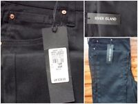 BRAND NEW Womens size 14 Black River Island jeans