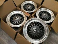 "NEW ALLOYS 17"" 5X120 BMW E36 E30 E46 E38 1 2 3 5 6 7 SERIES RS LM RX RC RXR BBS STYLE ALLOY WHEELS for sale  Barking, London"