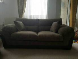 NEW THREE SEATER SOFA AND ARMCHAIR